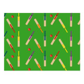 Cricket bats balls Post Card