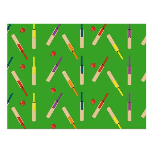 Cricket bats/ balls Post Card