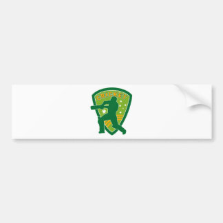 cricket batsman batting australia stars bumper sticker