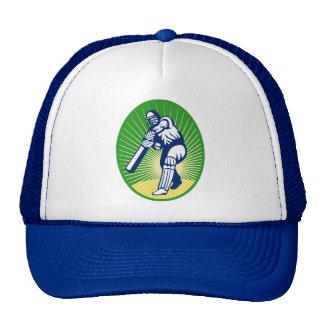 cricket batsman batting bat mesh hat
