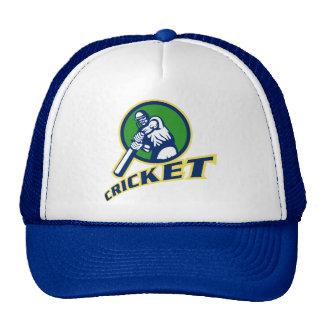 cricket batsman batting front mesh hat