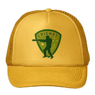 cricket batsman batting silhouette australia mesh hats
