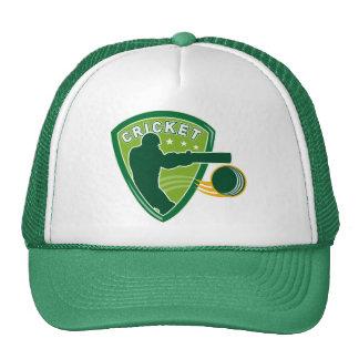 cricket batsman batting silhouette ball mesh hats