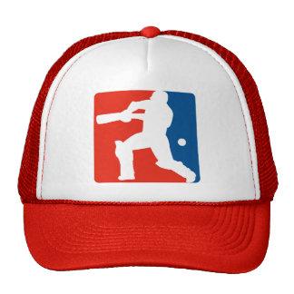 cricket batsman batting silhouette hats