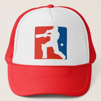 cricket batsman batting silhouette trucker hat