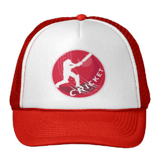 cricket batsman silhouette batting ball trucker hat