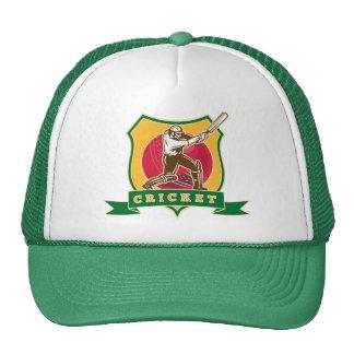 cricket batsman silhouette batting ball shield mesh hat