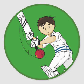 Cricket Batsman Sticker
