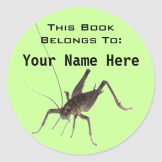 Cricket Book Ownership Sticker