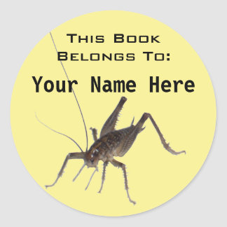 Cricket Book Ownership Sticker (#4)