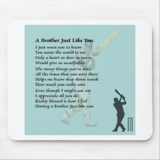 Cricket - Brother Poem Mouse Pads