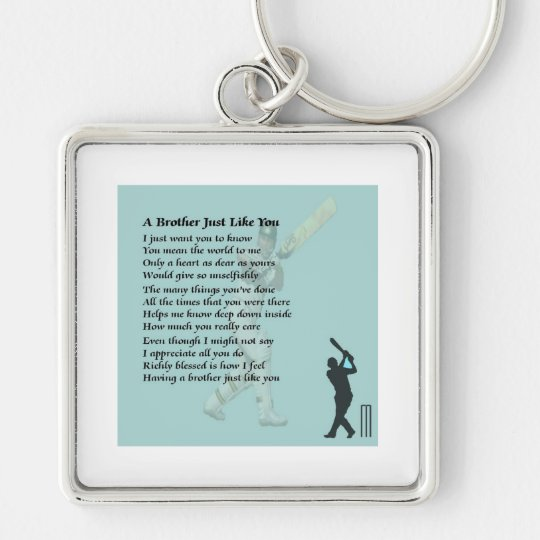 Cricket - Brother Poem Silver-Colored Square Key Ring