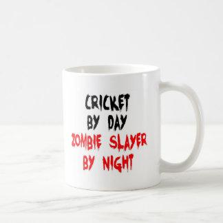Cricket by Day Zombie Slayer by Night Basic White Mug