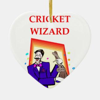 cricket ceramic heart decoration