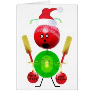 Cricket Christmas Card
