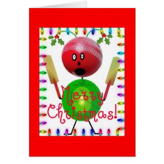 Cricket Christmas Cartoon Card