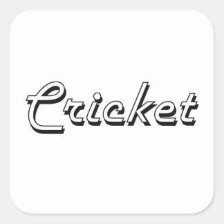 Cricket Classic Retro Design Square Sticker
