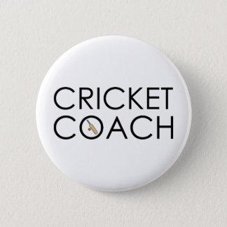 Cricket Coach 6 Cm Round Badge