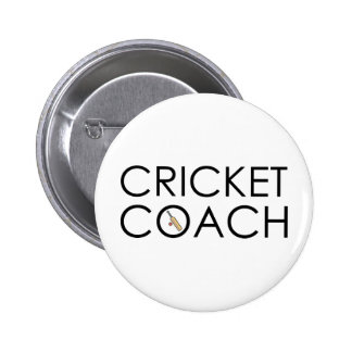 Cricket Coach 6 Cm Round Badge