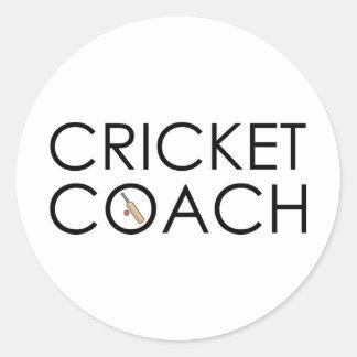 Cricket Coach Round Sticker