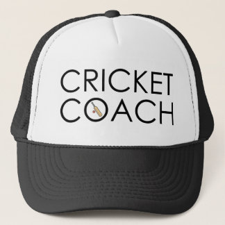 Cricket Coach Trucker Hat