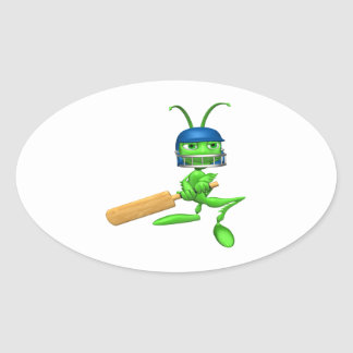 Cricket Cricket Oval Sticker