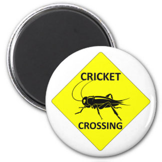 Cricket Crossing Sign Magnet
