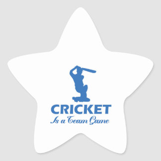 cricket design star sticker