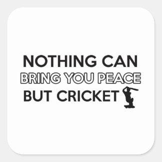 cricket design square stickers
