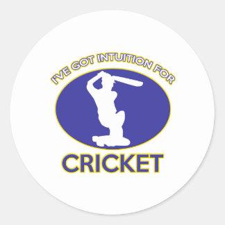 cricket designs round sticker