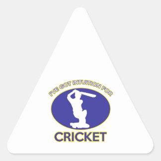 cricket designs triangle stickers