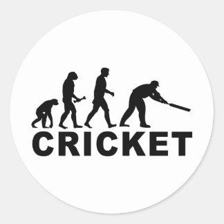 Cricket Evolution Classic Round Sticker