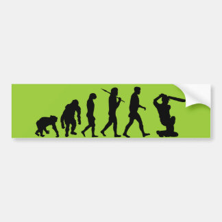 Cricket - Evolution of cricket Bumper Sticker