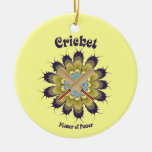 Cricket Flower of Power Christmas Ornament