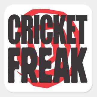 Cricket Freak Square Sticker