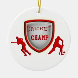 Cricket Game Awards, Trophies & Gifts Round Ceramic Decoration