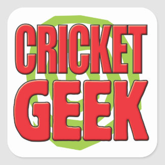 Cricket Geek Square Stickers