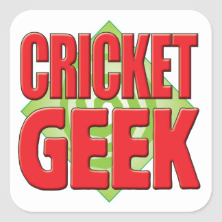 Cricket Geek v2 Sticker