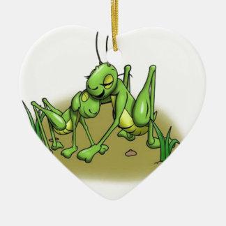 Cricket hug.JPG Ceramic Heart Decoration