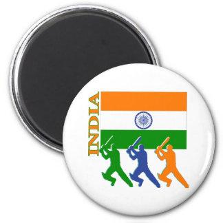 Cricket India 6 Cm Round Magnet