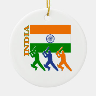 Cricket India Christmas Ornament