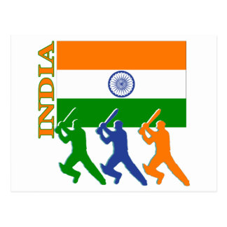 Cricket India Postcard