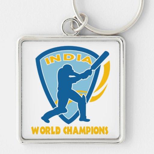 cricket india world champions batsman batting key chains