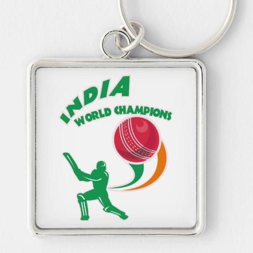 cricket india world champions key chain