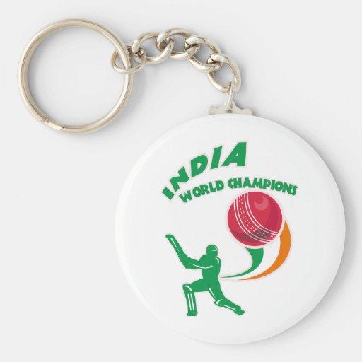 cricket india world champions key chains