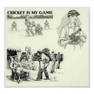 Cricket Is My Game - Vintage Cricket Art Print