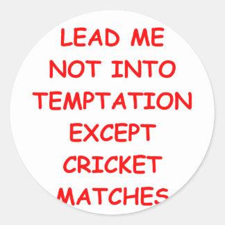 cricket joke round sticker