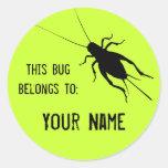 Cricket Label Round Stickers