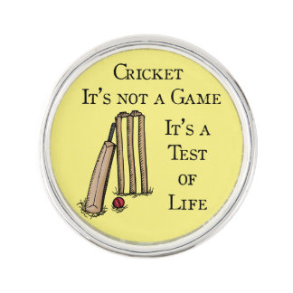 Cricket Lapel Pin