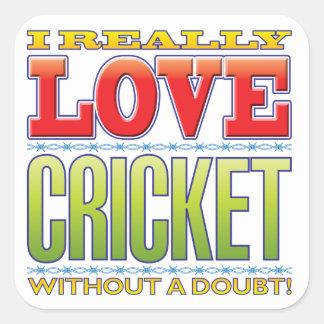 Cricket Love Square Sticker